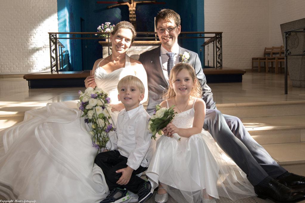 Cecilie og Troels med børn